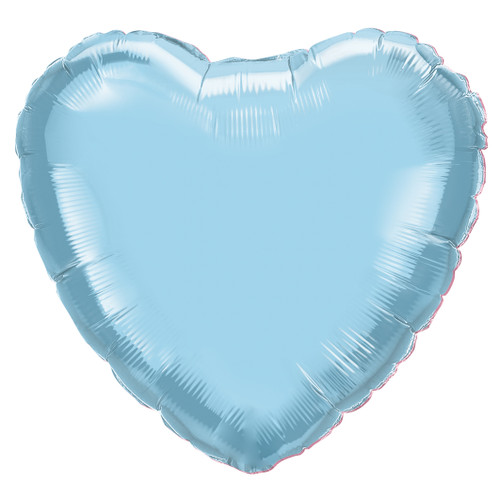 Small Light Blue Heart Balloon