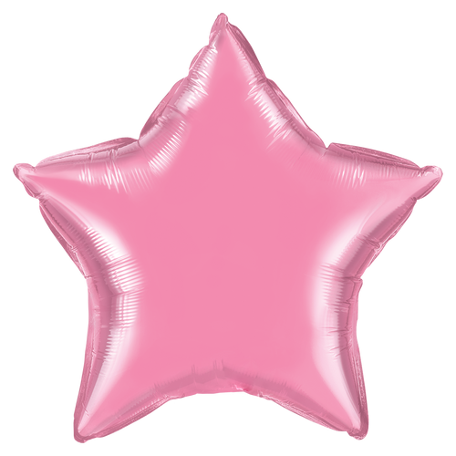 Small Light Pink Star Foil Balloon