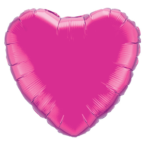 Small Dark Pink Heart Foil Balloon Party Decoration for Birthdays, Weddings, Hen Parties and Baby Showers