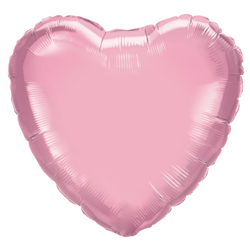 Small Pearl Pink Heart Foil Balloon