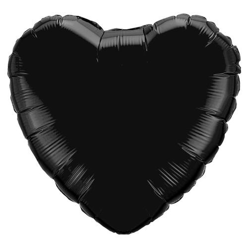 Small Black Heart Foil Balloon
