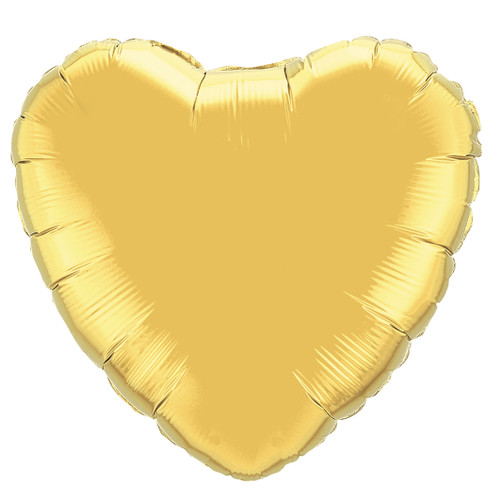Small Gold Heart Balloon Party Decoration for Birthdays, Weddings and Baby Showers