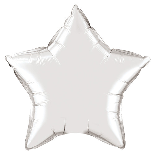Small Silver Star Foil Balloon