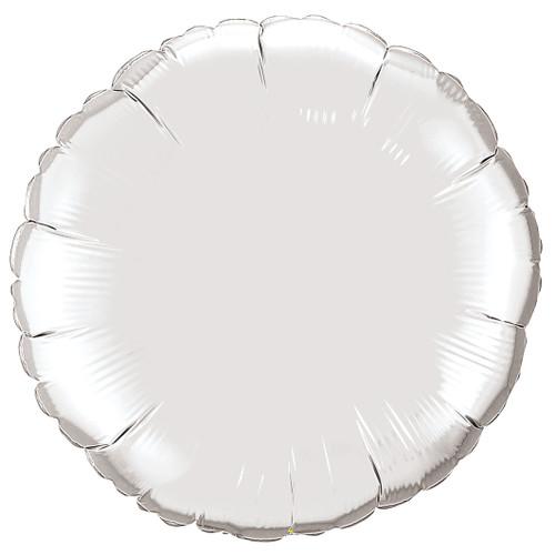 Small Silver Round Foil Balloon
