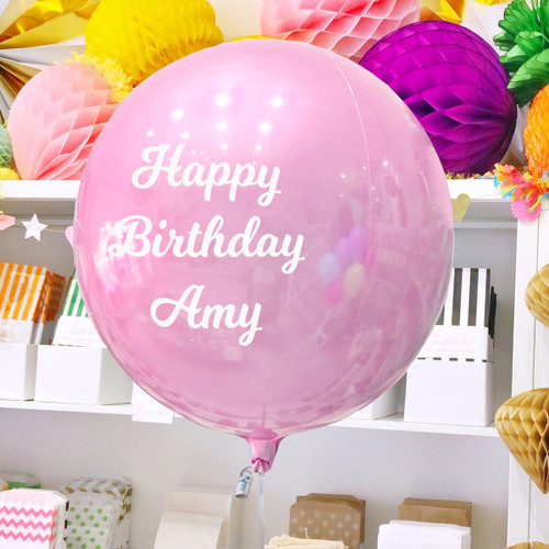 Personalised Pastel Pink Orb Balloon