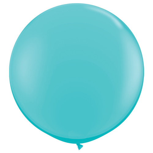 Caribbean Blue Giant Round Balloon Party Decoration for Summer Themed Birthdays or Baby Showers