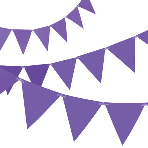 Purple Paper Bunting