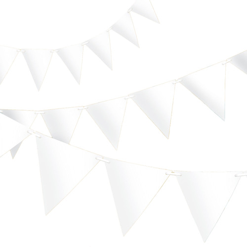 White Paper Bunting