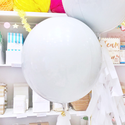 White Orb Balloon Party Decoration for Birthdays, Hen Parties, Weddings and Baby Showers