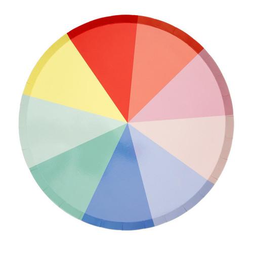 Rainbow Wheel Plates Party Tableware for Colourful Birthday Table Decor