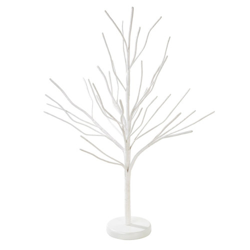 Chic white minimalist Christmas tree decoration