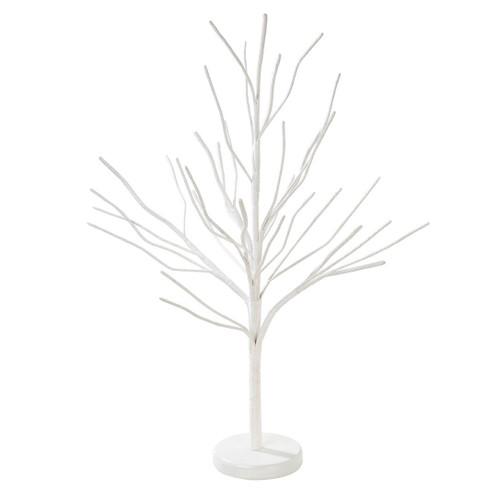 Chic white minimalist Christmas tree decoration