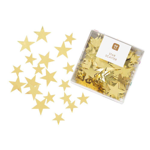 Luxury metallic gold scatter confetti for decorating Christmas party tables