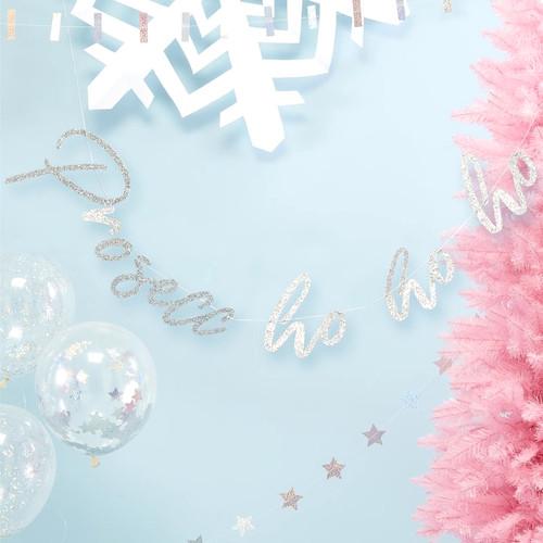 Silver Glitter Prosecc-ho-ho-ho Bunting