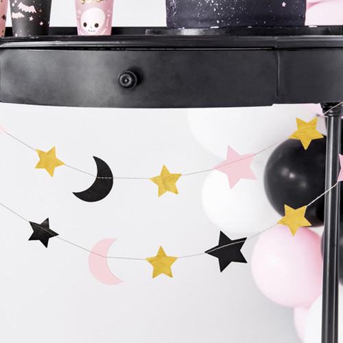 Stars and Moon Bunting Party Decoration for Magical Unicorn Birthdays, Baby Showers or Halloween Decor