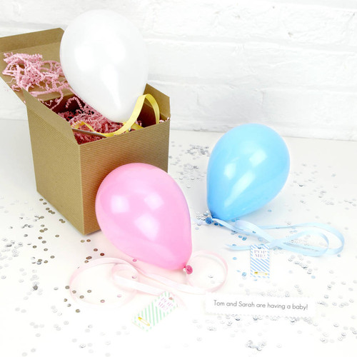 Personalised Baby Announcement Balloon for Baby Showers and Gender Reveals