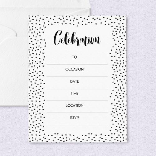 Black Polka Dot Invitations