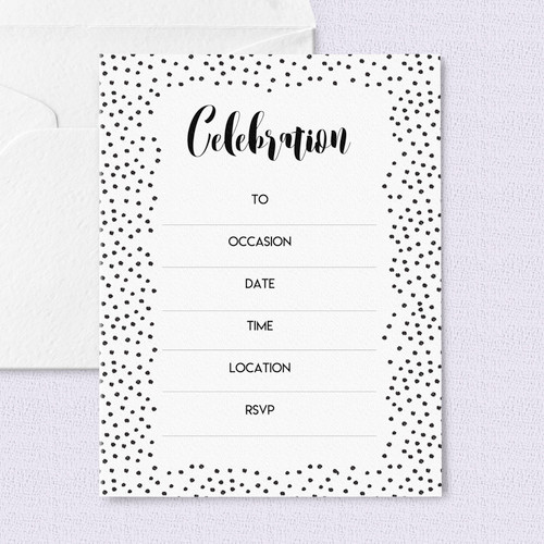 Black Polka Dot Invitations