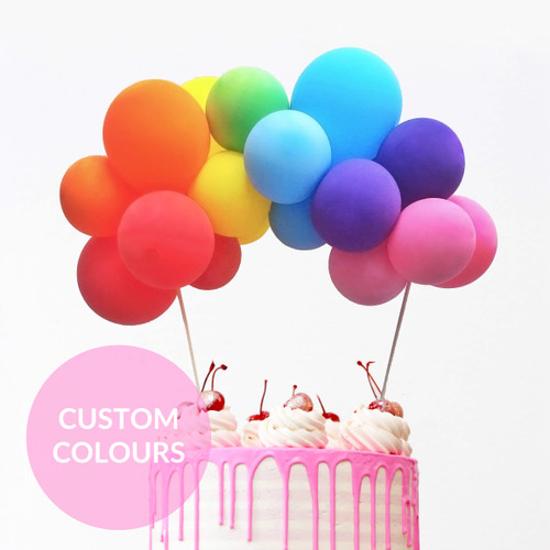 Custom Colour Balloon Cake Topper