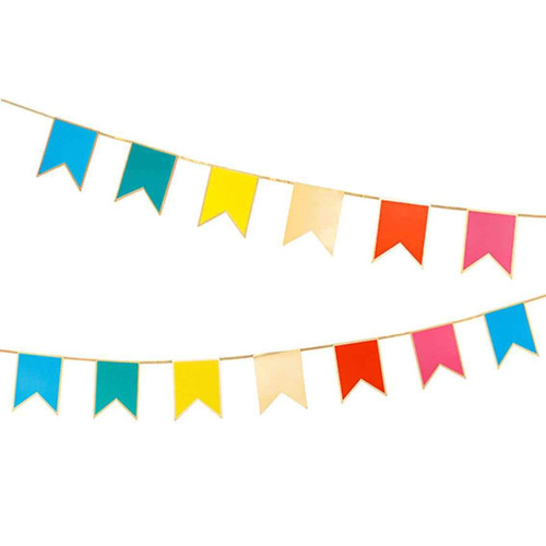 Rainbow party bunting decoration for children's birthday parties, pride, festivals and fun wedding celebrations