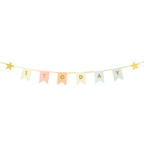 First birthday pastel party bunting garland decoration