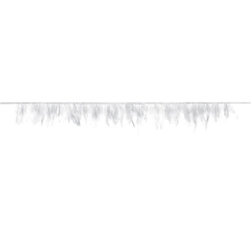Faux Feather Bunting Party Decoration for Chic White Birthdays, Weddings and Home Decor