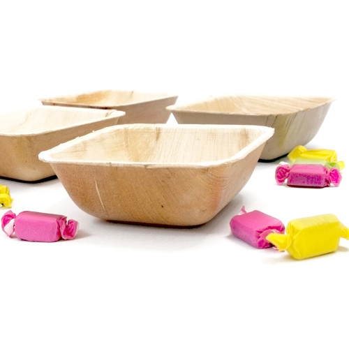 Square palm leaf party tableware bowl
