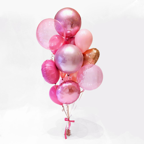 Pink and rose gold Birthday Deluxe Balloon Collection