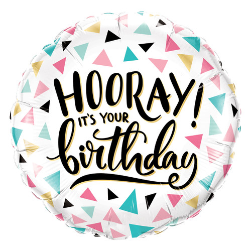 Hooray Happy Birthday Helium Foil Balloon for Birthday Parties