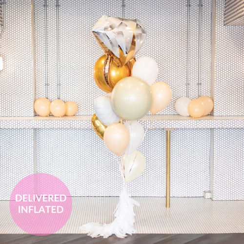 Bride to be hen party balloons filled with helium make the most amazing Instagram backdrop