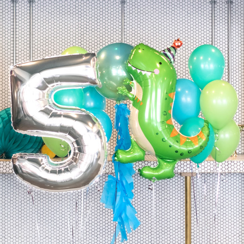 Dinosaur Birthday Party Balloon Collection for Birthday Parties and Colorful Celebrations