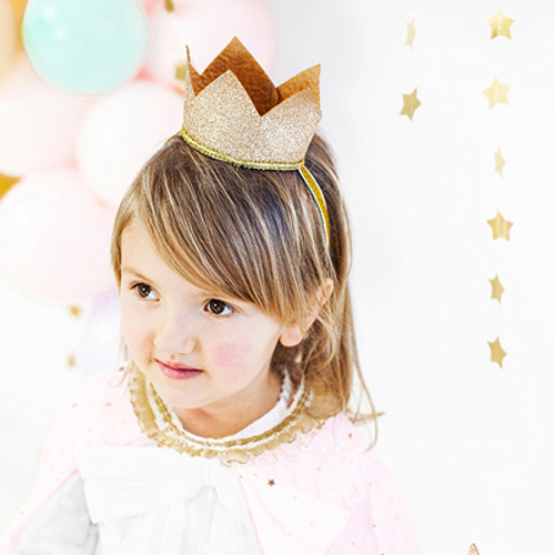Gold glitter Birthday party princess crown