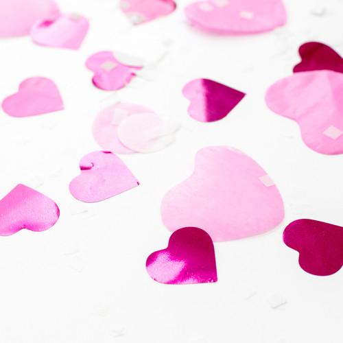 Romantic love pink heart mix tissue paper party confetti