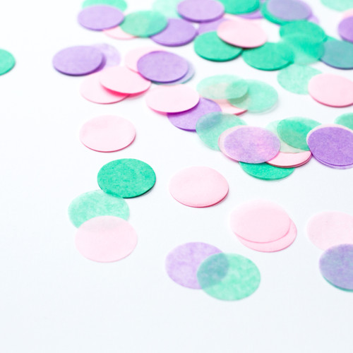 Pastel pink, mint green and lilac mix tissue paper party confetti