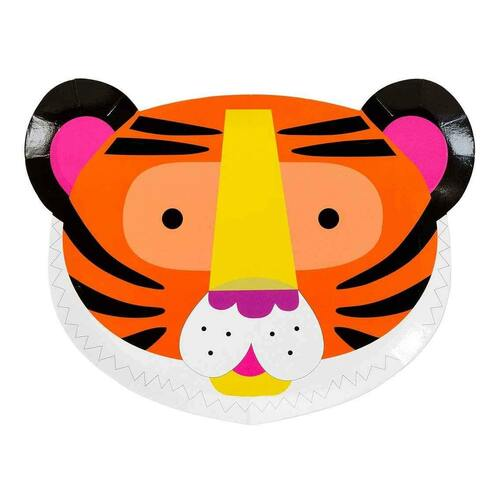 Tiger safari animal paper party plates
