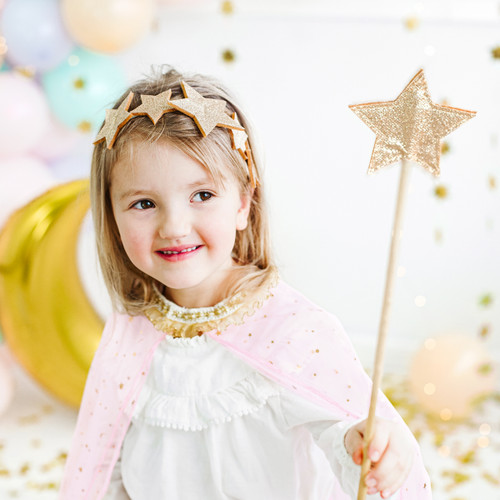Gold Star Fairy Wand For Magical Princess Birthday Parties