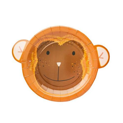 Jungle themed monkey party plates