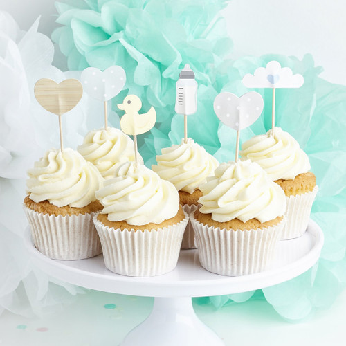 Baby Themed Cupcake Toppers