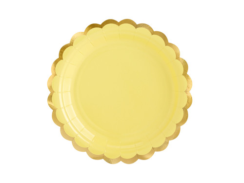 Yellow Scallop Edge Party Plates