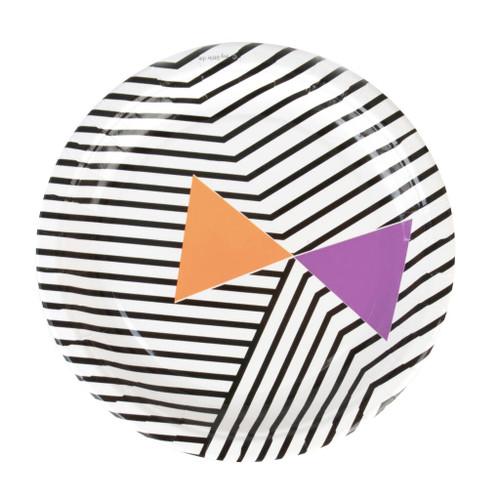 Halloween Black Striped Plates