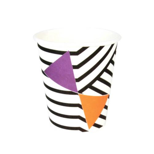 Halloween Black Striped Cups