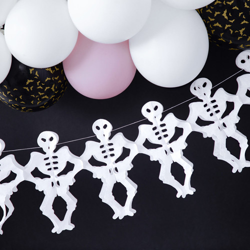 Paper skeleton Halloween garland decoration