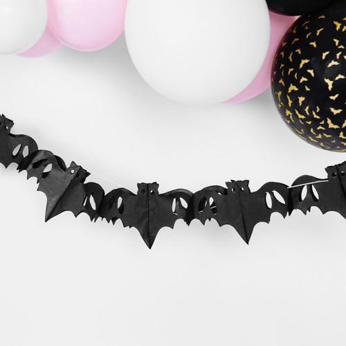 Paper bat Halloween garland decoration