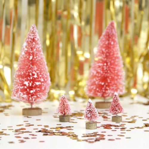 Decorative Pink Christmas Trees