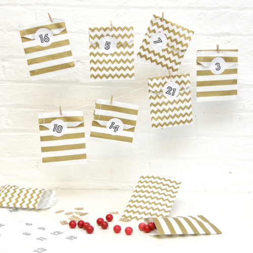 Gold Advent Calendar Kit