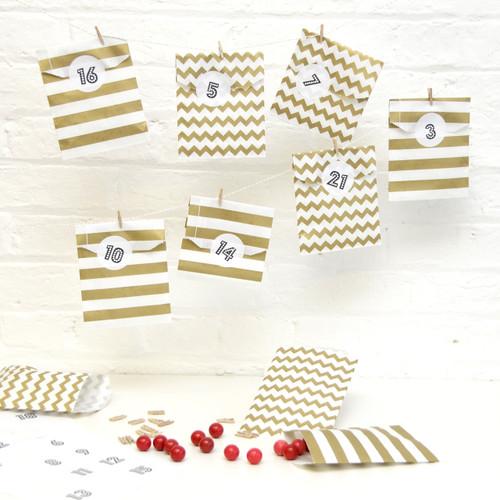 Gold Advent Calendar Kit