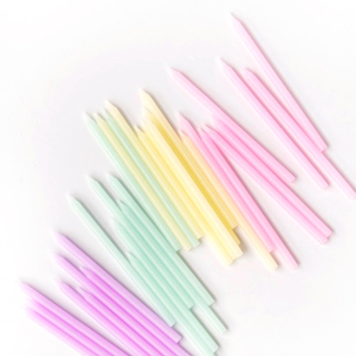 Pastel Birthday Cake Candles