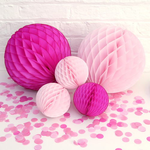 Pink Baby Shower Paper Ball Collection