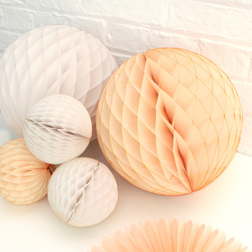 Blush Baby Shower Paper Ball Collection