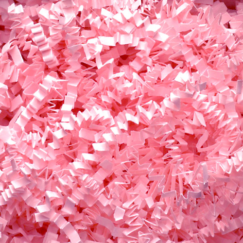 Light Pink Crinkle Paper Shredding